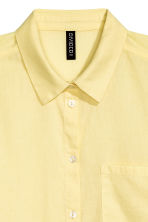 Cotton shirt - Yellow - Ladies | H&M 3