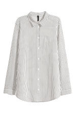 棉质衬衫 - White/Black striped - Ladies | H&M CN 2