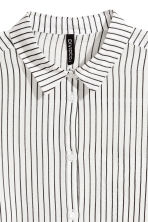 棉质衬衫 - White/Black striped - Ladies | H&M CN 3