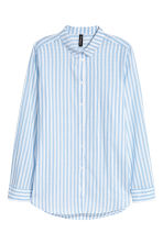 Cotton shirt - Light blue/Stripe - Ladies | H&M 2