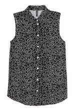 Sleeveless blouse - Black/Spotted - Ladies | H&M 2