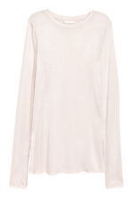 Long-sleeved jersey top - Light powder - Ladies | H&M CA 1
