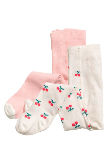 2-pack tights - Light pink - Kids | H&M CN 1