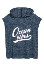 Hooded top - Dark blue marl -  | H&M 2