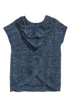 Hooded top - Dark blue marl -  | H&M 3