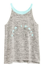 Printed vest top - Grey marl -  | H&M 2