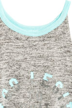 Printed vest top - Grey marl -  | H&M 3
