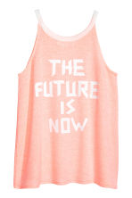 Printed vest top - Light apricot -  | H&M 3