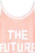 Printed vest top - Light apricot -  | H&M 4