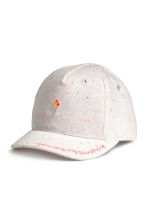 Cotton cap - White marl -  | H&M 1