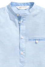 Cotton shirt - Light blue marl -  | H&M 4