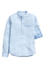 Cotton shirt - Light blue marl -  | H&M 3