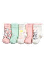 5-pack socks - Mint green -  | H&M CA 1