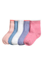 5-pack socks - Purple marl - Kids | H&M 1