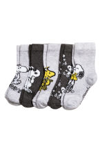 5-pack socks - Grey/Snoopy - Kids | H&M CN 1