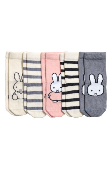 5-pack socks - Pink/Miffy - Kids | H&M