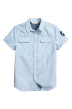 Short-sleeved shirt - Light blue -  | H&M 2