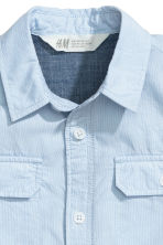Short-sleeved shirt - Light blue - Kids | H&M 4