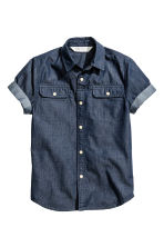 Camicia a maniche corte - Blu denim scuro - BAMBINO | H&M IT 2