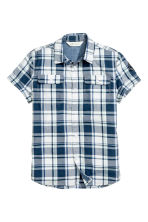 Short-sleeved shirt - White/Checked - Kids | H&M CN 2