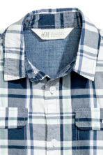 Short-sleeved shirt - White/Checked - Kids | H&M CN 4