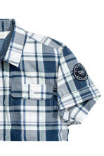 Short-sleeved shirt - White/Checked - Kids | H&M 3