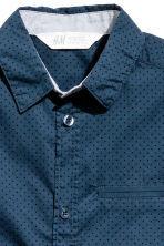 Short-sleeved shirt - Dark blue/Spotted -  | H&M 3