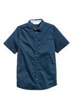 Short-sleeved shirt - Dark blue/Spotted -  | H&M 2