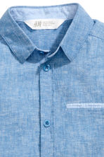 Short-sleeved shirt - Blue marl - Kids | H&M CN 3