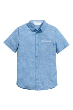 Short-sleeved shirt - Blue marl - Kids | H&M CN 2