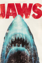 Printed T-shirt - Natural white/Jaws -  | H&M 3