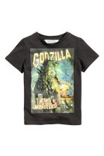Printed T-shirt - Black/Godzilla - Kids | H&M CN 2