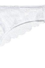 Lace Brazilian briefs - White - Ladies | H&M CN 2