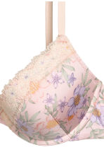 Microfibre push-up bra - Light pink/Floral - Ladies | H&M 3