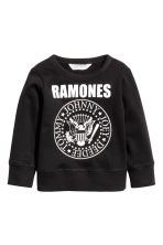 Printed sweatshirt - Black/Ramones - Kids | H&M CN 2