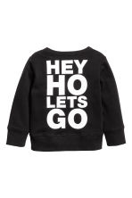 Printed sweatshirt - Black/Ramones - Kids | H&M CN 3