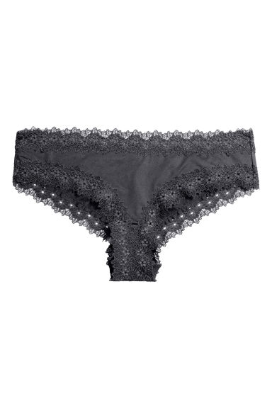 Microfibre hipster briefs - Dark grey - Ladies | H&M 1
