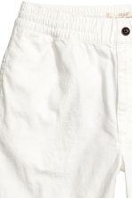 Linen-blend knee-length shorts - White - Men | H&M CN 3