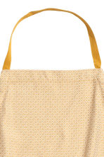 Jacquard-weave apron - Mustard yellow/Patterned - Home All | H&M CN 2