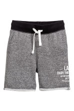 Sweatshirt shorts - Black marl -  | H&M IE 2
