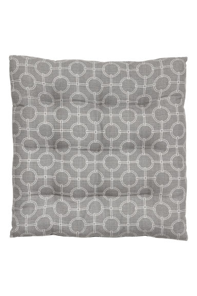Slub-weave seat pad - Grey/Patterned - Home All | H&M CN 1