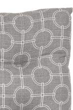 Slub-weave seat pad - Grey/Patterned - Home All | H&M CN 2