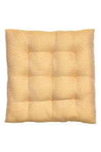 Jacquard-weave seat cushion - Mustard yellow/Patterned - Home All | H&M CN 2