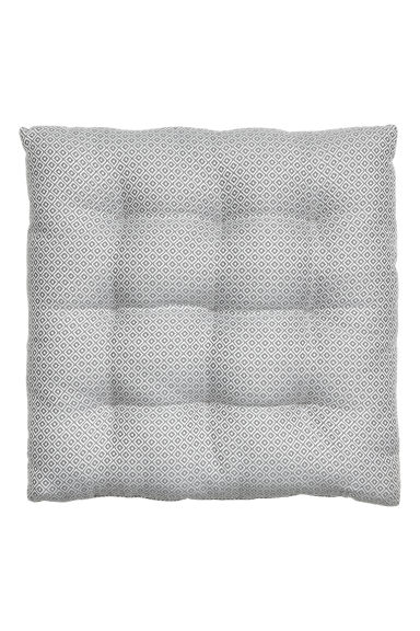 Jacquard-weave seat cushion - Grey/Patterned - Home All | H&M CN 1