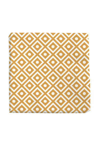 Paper napkins  - White/Mustard yellow - Home All | H&M CN 1