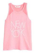 Printed vest top - Pink/New York -  | H&M 2