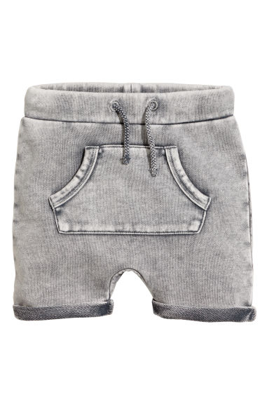 Sweatshirt shorts - Grey washed out - Kids | H&M CN 1