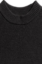 Fine-knit sleeveless top - Black -  | H&M 3