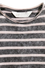 Washed-look T-shirt - Nearly black/Striped -  | H&M 3