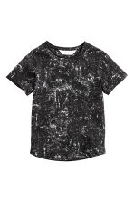 Washed-look T-shirt - Black/White -  | H&M 2